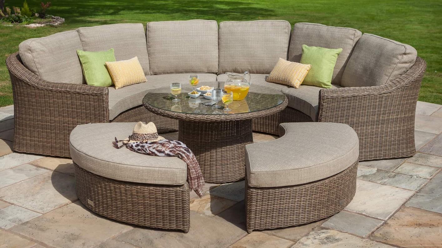 Hartman Hartman Bali 8 Seat Curved Garden Furniture Lounge ...