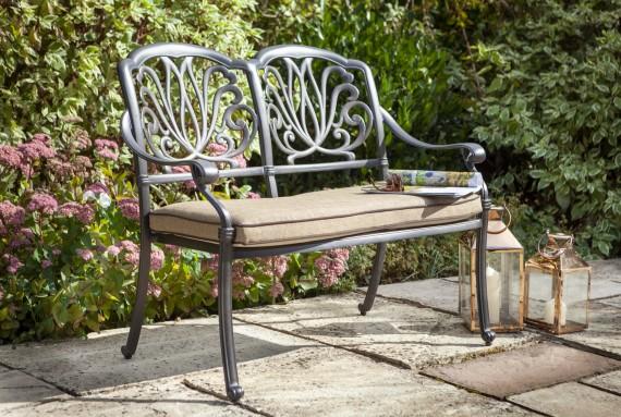 Hartman Amalfi 2 Seat Garden, Cast Aluminium Garden Seat