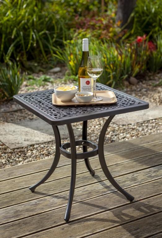 Hartman Capri Square Garden, Wooden Side Table For Garden