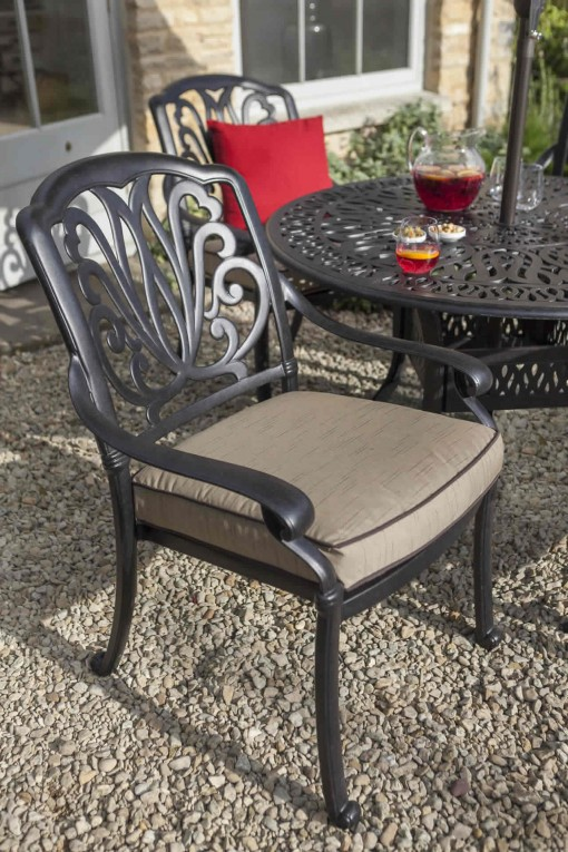Hartman Hartman Amalfi Comfort Garden Furniture Dining Chair Cast Aluminium Garden  Furniture | The Garden Furniture Company