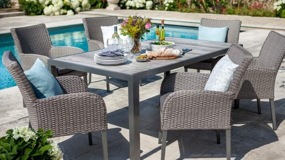 Hartman Hartman Atlanta 6 Seat Rectangular Garden Furniture Dining Set  Rattan Garden Furniture | The Garden Furniture Company