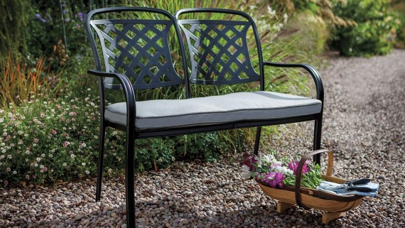 Hartman Berkeley 2 Seat Garden Furniture Bench Midnight