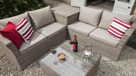 Hartman Hartman Essential Corner Garden Furniture Storage Set - Bark Rattan Garden Furniture | The Garden Furniture Company & Hartman Hartman Essential Corner Garden Furniture Storage Set - Bark ...