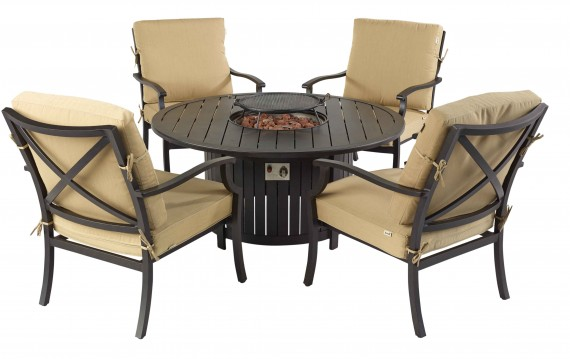hartman hartman emberglow 4 seat gas firepit garden furniture lounge