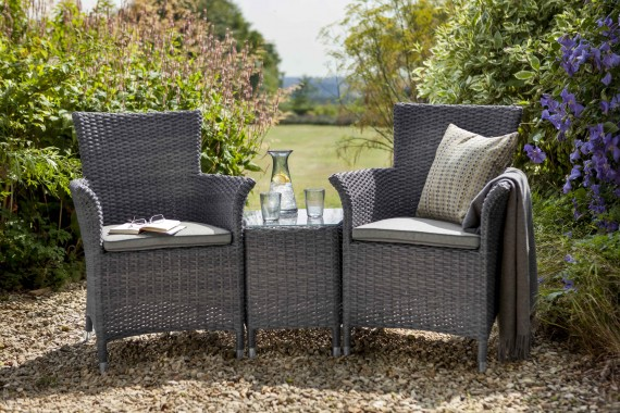 Hartman Hartman Appleton 2 Seat Garden Furniture Duet Set   Slate Rattan  Garden Furniture | The Garden Furniture Company
