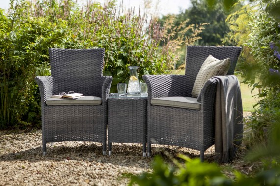 Hartman Appleton 2 Seat Garden Furniture Duet Set   Slate